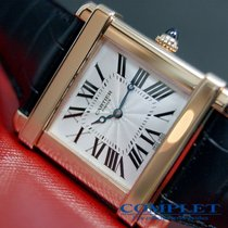 "Cartier Men's Tank ""Chinoise""  18K PG"