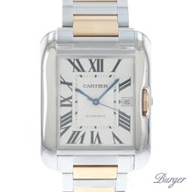 Cartier Tank Anglaise Goud/Staal 38mm Zilver Romeins Nederland, Maastricht