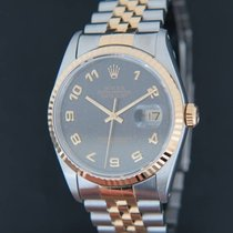 Rolex Datejust Grey Jubilee Dial Gold/Steel 16233