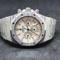 Audemars Piguet Royal Oak Chronograph Steel 39mm White No numerals