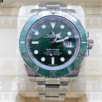 Rolex Ceramic Automatic Green No numerals 40mm pre-owned Submariner Date