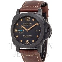 Panerai Automatic Black 44mm pre-owned Luminor Marina 1950 3 Days Automatic