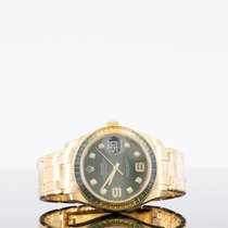 Rolex Pearlmaster Κίτρινο χρυσό 39mm Πράσινο Αραβικοί