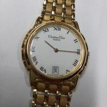 Dior Yellow gold Quartz White Roman numerals 31mm pre-owned