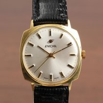 Enicar Yellow gold Manual winding Silver 33mm pre-owned