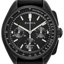 Bulova Lunar Pilot Steel 45mm Black No numerals