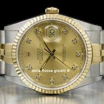 Rolex Datejust 16233 Mycket bra Guld/Stål 36mm Automatisk