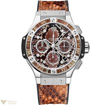 Hublot Big Bang Boa Brown Stainless Steel Ladies Watch