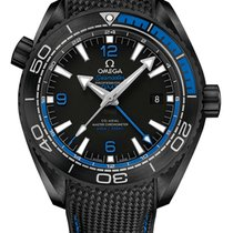 Omega Planet Ocean 600m DEEP BLACK Co-Axial Master Chronometer...