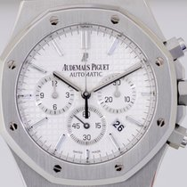 Audemars Piguet Royal Oak Chronograph 41 mm Stahl white Dial...