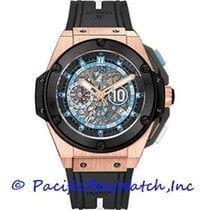 Hublot King Power Ruzicasto zlato 48mm Crn