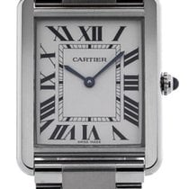 Cartier Tank Solo Large 35mm Rectangular Silver Dial Steel...