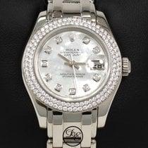 Rolex Masterpiece Pearlmaster 80339 18K W Gold Factory Diamonds