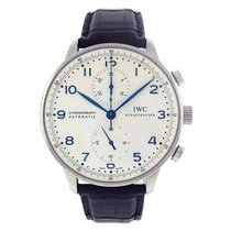 IWC Portuguese Stainless Steel Automatic Chronograph Men's...