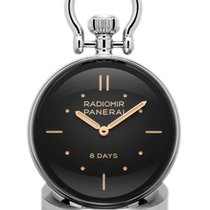 Panerai Table Clock Steel 46mm Black