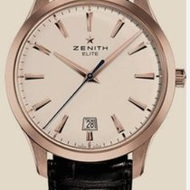 Zenith Captain Central Second pre-owned 40mm White Date Crocodile skin