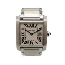 卡地亚 Tank Francaise MM Watch W51003Q3 Stainless Steel Silver 1137