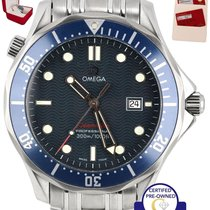Omega MINT Omega Seamaster Professional 300M Blue Red Wave...