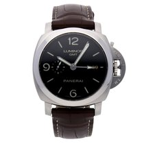 Panerai 44mm Automatic pre-owned Luminor 1950 3 Days GMT Automatic Black