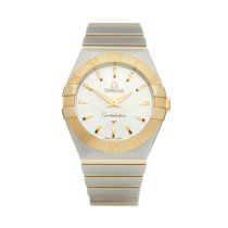 Omega Constellation Quartz pre-owned 27mm Silver Gold/Steel