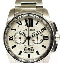 Cartier Calibre de Cartier Chronograph gebraucht Chronograph Datum Stahl