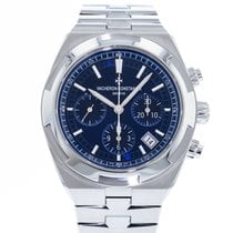 Vacheron Constantin Overseas Chronograph pre-owned 42.5mm Blue Chronograph Date Steel