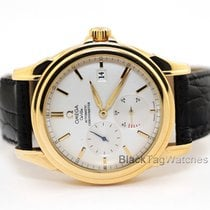 Omega De Ville Co-Axial pre-owned 38.7mm White Date Leather