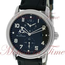 Blancpain Leman Double Time Zone, Black Dial - Stainless Steel...