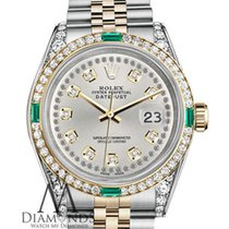 Rolex Lady-Datejust Gold/Steel 26mm Silver No numerals United States of America, New York, New York