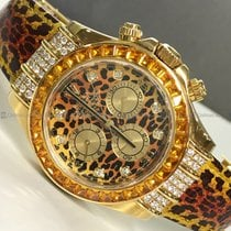 Rolex - Leopard Daytona 116598 Diamond Bezel And Dial YG