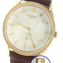 Longines Men's Vintage Longines 14K Yellow Gold Grey Stick...