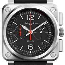 Bell & Ross BR 03-94 Chronographe Steel 42mm Black Arabic numerals