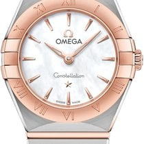 Omega Constellation Goud/Staal 25mm Parelmoer