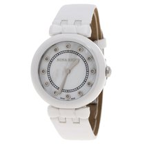 Nina Ricci Ceramic Quartz Nina Ricci White Mother of Pearl and Diamonds Ceramic N05400 new