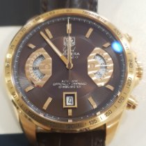 TAG Heuer Or rose Remontage automatique Brun 43mm occasion Grand Carrera