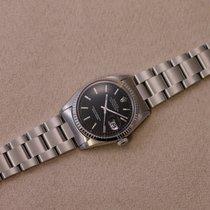 Rolex Datejust Staal 36mm Zilver Geen cijfers