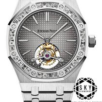 Audemars Piguet Royal Oak Tourbillon Platinum 41mm Grey No numerals United States of America, New York, NEW YORK