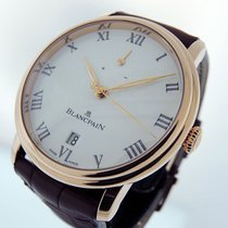 Blancpain Rose gold Manual winding White Roman numerals 42mm new Villeret