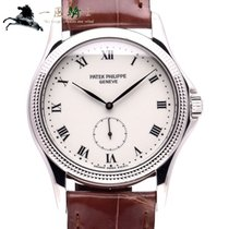 Patek Philippe Or blanc 35mm Remontage manuel 5115G-001 occasion