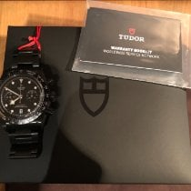 Tudor Black Bay Chrono Aço 41mm Preto Sem números