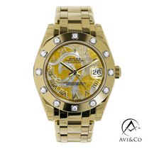 Rolex Pearlmaster Yellow gold 34mm Mother of pearl Roman numerals United States of America, New York, New York
