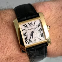 Cartier Tank Française 1840 Very good Yellow gold 28mm Automatic Finland, HELSINKI