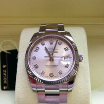 Rolex Oyster Perpetual Date 34 Stahl/Weißgold 115234 Diamant ZB.