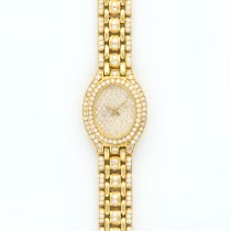 Audemars Piguet Ladies  Yellow Gold Full Diamond Bracelet Watch