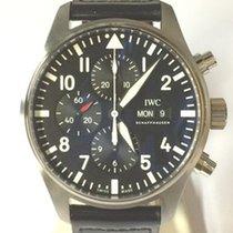 IWC Pilot Chronograph Acero 43mm Negro Arábigos