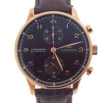 IWC Portuguese Chronograph 18kt Rose Gold IW371482 w/box