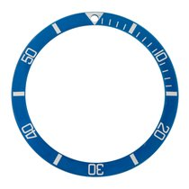 Rolex Insert for plexi Submariner Marine Nationale, blue