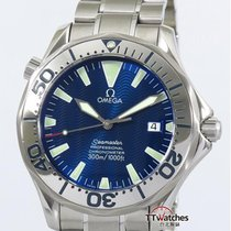 Omega Seamaster 300m Chronometer Electric Blue Papers