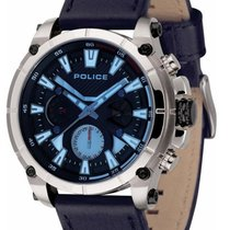 Police Stahl 49mm Quarz PL14832JS.03 neu