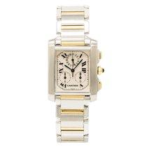Cartier Tank Francaise Chronoflex 2303 Mens Quartz Watch Two...